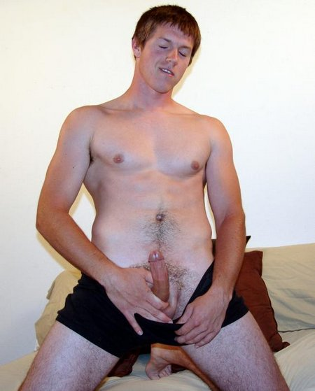 Horny Young Man Masterbating