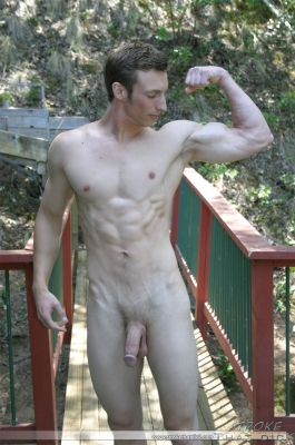 Hot amateur young stud posing